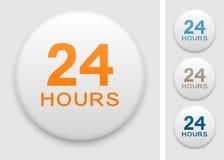 24 hrs значка Стоковое Изображение