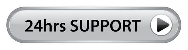 24 hrs кнопки поддержки иллюстрация вектора