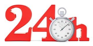 24 hrs 快速的交付概念, 3D翻译 向量例证