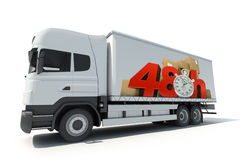 48 hrs delivery, truck Stock Photography