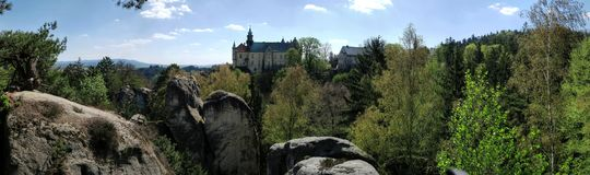 Hrubá Skála Castle in the Bohemian Paradise. In the eastern part of the Czech Republic royalty free stock photo