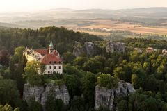 Hruba Skala Castle Stock Photography