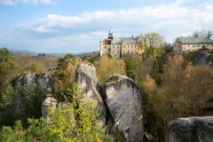 Hruba Skala castle in the heart of Bohemian Paradise. Czech Republic stock photography