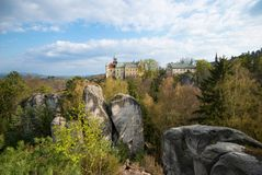 Hruba Skala castle in the heart of Bohemian Paradise. Czech Republic royalty free stock photos