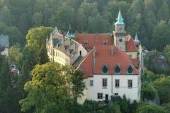 Hruba Skala slott Arkivfoto