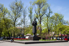 Hryhorii Skovoroda, monument in Kiev, Ukraine Stock Photography