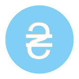 Hryvnia currency symbol icon Stock Photography