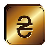 Hryvnia currency symbol icon Stock Photo