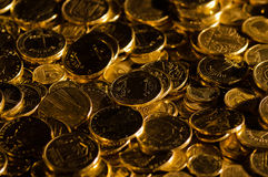 Hryvnia and kopecks. Ukrainian coins one hryvnia and ten kopecks Royalty Free Stock Photography