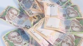 Hryvnia money background, money video footage stock video footage