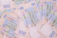 Hryvnia UAH Ukrainian banknotes. 500 Ukraine national financies background stock photos