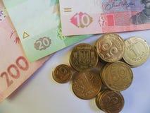 Hryvnia ucraniano, moeda Foto de Stock Royalty Free