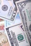 Hryvnia ucraniano y los dólares americanos Imagenes de archivo