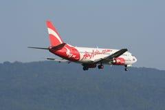 HS-AAM泰国亚洲航空着陆波音737-300  库存照片