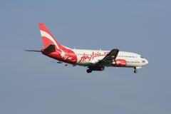 HS-AAM泰国亚洲航空着陆波音737-300  免版税库存照片