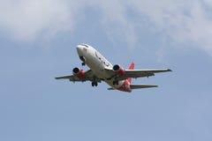 HS-AAN泰国亚洲航空着陆波音737-300  库存图片