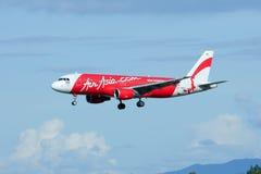 HS-ABA Airbus A320-200 de Thaiairasia Fotos de Stock Royalty Free