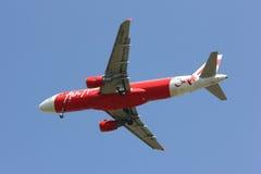 HS-ABA Airbus A320-200 de Thaiairasia Foto de Stock Royalty Free