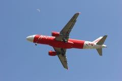 HS-ABA Airbus A320-200 de Thaiairasia Fotografia de Stock