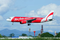 HS-ABA Airbus A320-200 von Thaiairasia Lizenzfreie Stockbilder