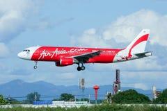 HS--ABAflygbuss A320-200 av Thaiairasia Royaltyfria Bilder