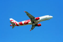 HS-ABC, a320-200 thaiairasia. Aircraft scheme desigh by thai student of chiangmai university. identity of north thai culture Royalty Free Stock Photography