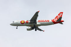 HS-ABE Airbus A320-200 of Thaiairasia. Asean Paint of Aircraft. Royalty Free Stock Photography