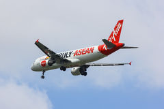 HS-ABE Airbus A320-200 de Thaiairasia Pintura do Asean dos aviões Foto de Stock Royalty Free