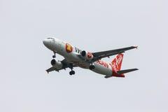 HS-ABE Airbus A320-200 de Thaiairasia Pintura do Asean dos aviões Imagens de Stock
