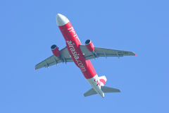 HS-ABF  Airbus A320-200 of Thaiairasia. Stock Images