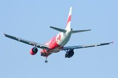 HS-ABH Airbus A320-200 de Thaiairasia Imagens de Stock Royalty Free