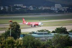 HS-ABO Airbus A320-200 de Thaiairasia Fotografia de Stock