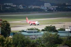 HS-ABO Airbus A320-200 de Thaiairasia Imagens de Stock