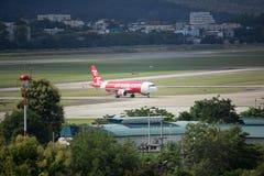 HS-ABO Airbus A320-200 de Thaiairasia Imagens de Stock Royalty Free