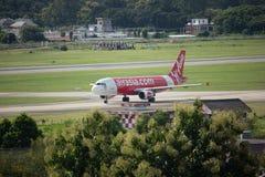 HS-ABS Airbus A320-200 de Thaiairasia Imagens de Stock Royalty Free