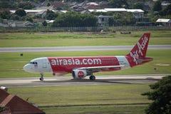 HS-ABS Airbus A320-200 de Thaiairasia Fotos de Stock Royalty Free