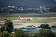 HS-BBN Airbus A320-200 de Thaiairasia Imagem de Stock Royalty Free
