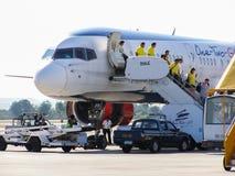 HS-BTA Boeing 757-300 Orient Thai Airlines obraz stock
