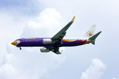 HS-DBA, boeing 737-800 of Nokair. HS-DBA. boeing 737-800 of Nokair, lowcost thailand airline Royalty Free Stock Photography