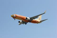 HS-DBF Boeing 737-800 de ligne aérienne de petit prix de NokAir Image libre de droits