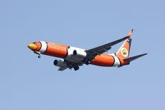 HS-DBH Boeing 737-800 de NokAir Foto de Stock Royalty Free