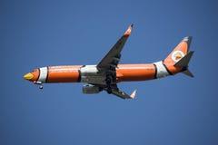 HS-DBJ Boeing 737-800 mit Flügelspitze von NokAir Lizenzfreies Stockfoto