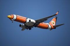 HS-DBJ Boeing 737-800 mit Flügelspitze von NokAir Lizenzfreie Stockfotografie