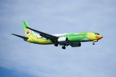 HS-DBR Boeing 737-800 av NokAir Royaltyfri Bild