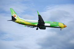 HS-DBR Boeing 737-800 di NokAir Fotografie Stock Libere da Diritti