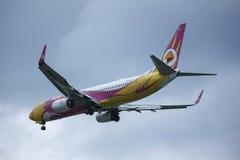 HS-DBS Boeing 737-800 av NokAir Royaltyfria Foton