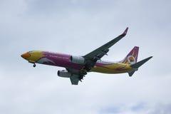 HS-DBS Boeing 737-800 av NokAir Royaltyfri Fotografi