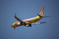 HS-DBT Boeing 737-800 av NokAir Fotografering för Bildbyråer