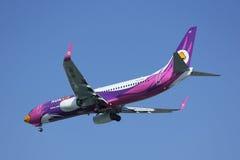 HS-DBU Boeing 737-800 av NokAir Royaltyfri Bild