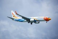 HS-DBW Boeing 737-800 av NokAir Royaltyfria Bilder